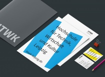 HTWK Corporate Design – Stationary, Quelle: Wenke & Rottke