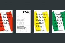 HTWK Corporate Design – Visitenkarte, Quelle: Wenke & Rottke