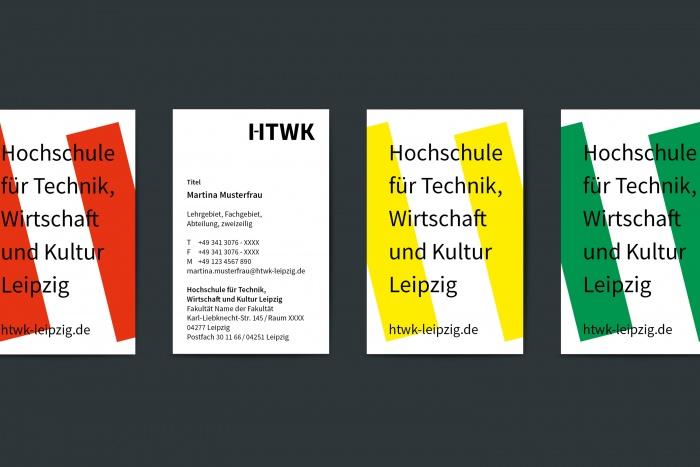HTWK Corporate Design – Visitenkarte, Quelle: Wenke & Rottke