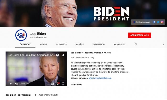 Joe Biden YouTube