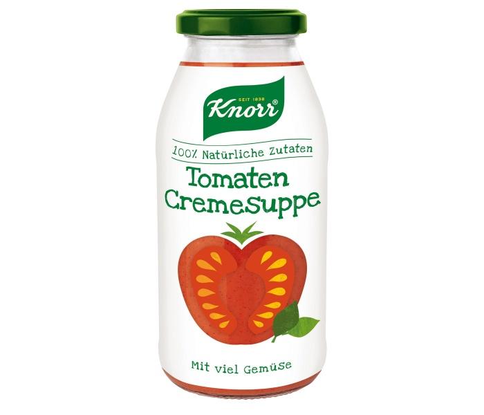 Knorr Tomaten Cremesuppe Glas, Quelle: Unilever