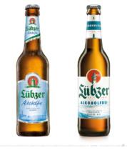 Lübzer alkoholfrei 0,33 Liter – vorher und nachher, Foto: Carlsberg Deutschland / Fotomontage dt