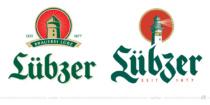 Lübzer Biermarke Logo – vorher und nachher, Foto: Carlsberg Deutschland / Fotomontage: dt