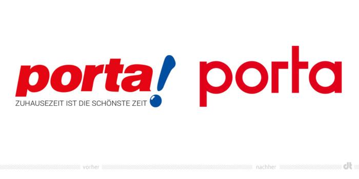 Porta Möbel Logo – vorher und nachher