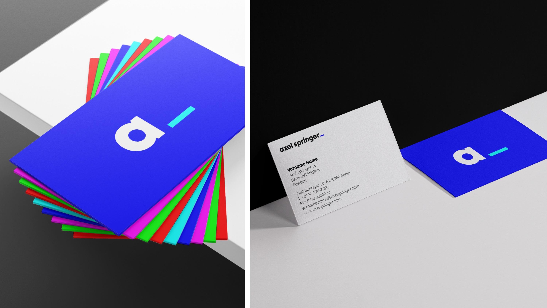 Axel Springer Visitenkarten Design Tagebuch
