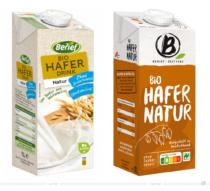 Berief Hafer Natur – vorher und nachher, Foto: obs/Berief Food GmbH, Fotomontage: dt