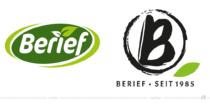 Berief Logo – vorher und nachher, Bild: obs/Berief Food GmbH, Bildmontage: dt