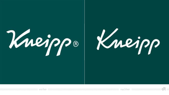 Kneipp Logo – vorher und nachher, Bildquelle: Kneipp, Bildmontage: dt