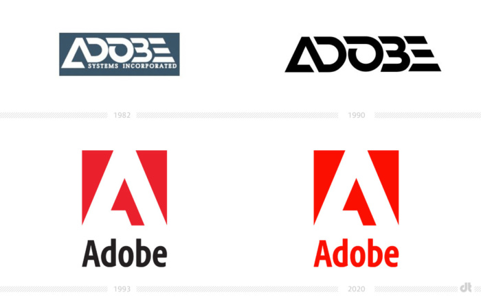 Adobe Logo-Evolution