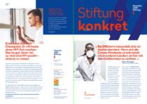 """Deutsche AIDS-Stiftung Corporate Design – Anwendungsbeispiel Magazin """"Konkret"""", Quelle: Deutsche AIDS-Stiftung"""