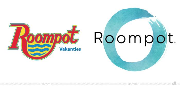 Roompot Logo – vorher und nachher, Bildquelle: Roompot, Bildmontage: dt