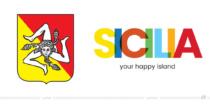 Sicilia Logo – vorher und nachher, Bildquelle: Assessorato Turismo Regione Siciliana, Bildmontage: dt