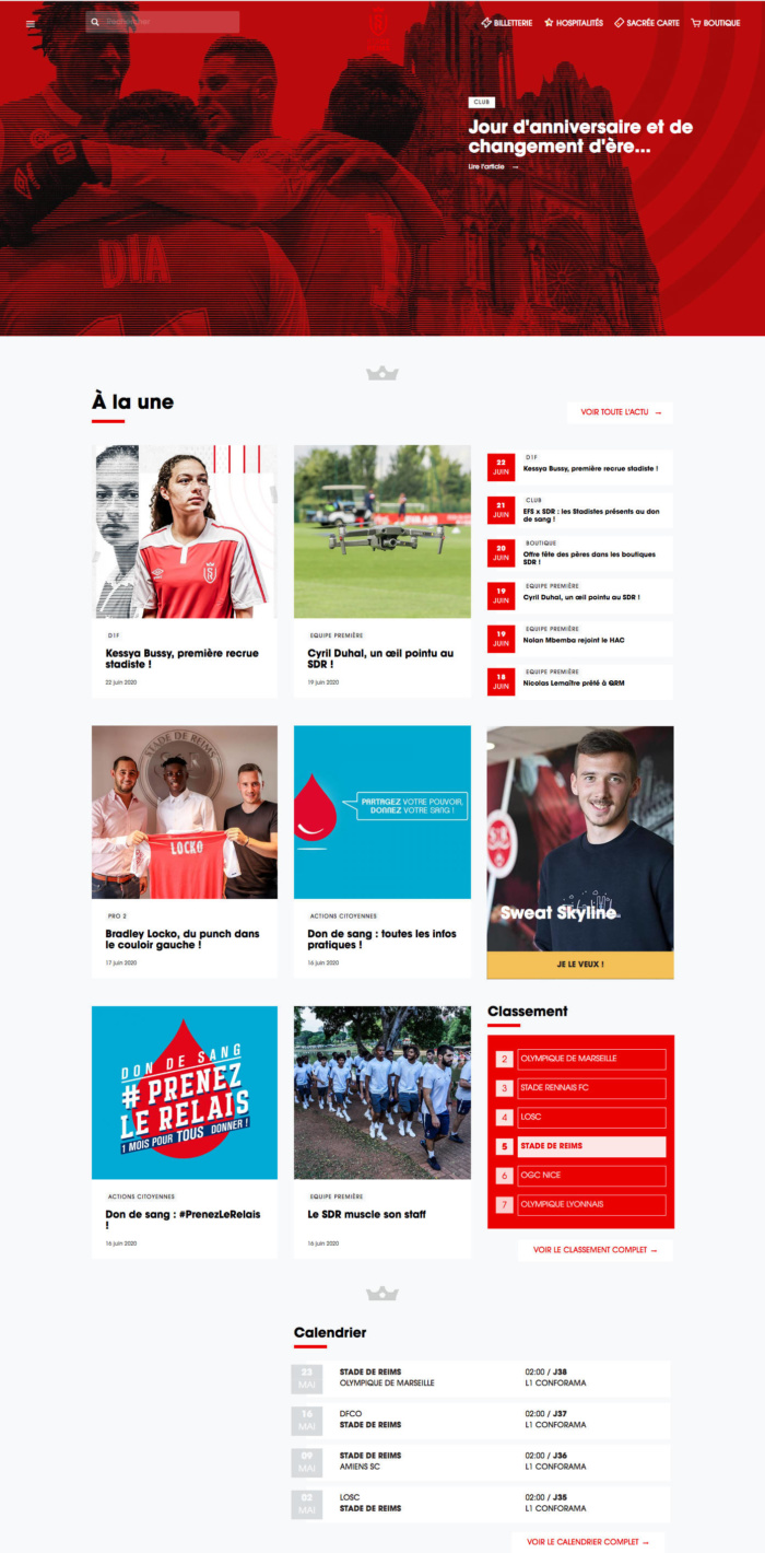 Stade de Reims Website