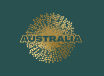 Australia Nation Brand Logo (green), Quelle: Austrade