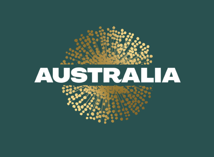 Australia Nation Brand Logo (green), Quelle: Austrade