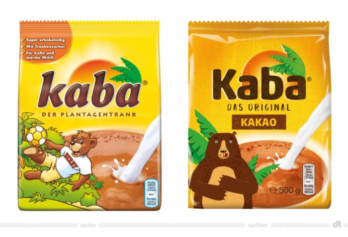 Kaba Schoko 500g – vorher und nachher, Bildquelle: Carambar & Co. / REWE, Bildmontage: dt