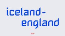 Isländische Fußballnationalmannschaft Branding Typo, Quelle: KSI
