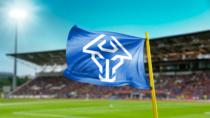 Isländische Fußballnationalmannschaft Branding Eckfahne, Quelle: KSI