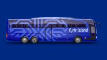Isländische Fußballnationalmannschaft Branding Mannschaftsbus, Quelle: KSI