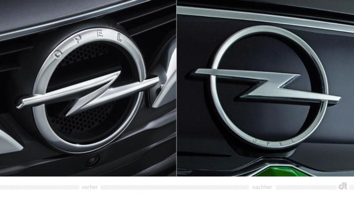 Opel-Blitz – vorher und nachher, Bildquelle: Opel Automobile GmbH, Bildmontage:dt