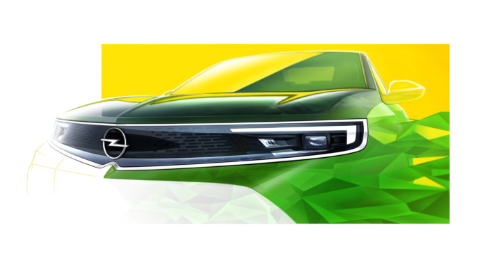 Opel-Vizor, zentrales Element der neuen Designsprache von Opel, Quelle: Opel Automobile GmbH