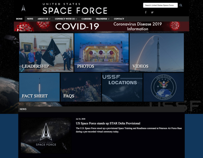 Space Force Website