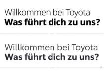 Toyota Typo – vorher und nachher, Bildquelle: Toyota Europe, Bildmontage: dt