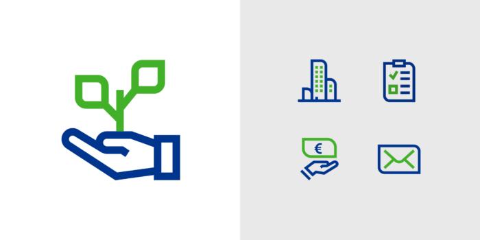 Union Investment Corporate Design – Content-Icons, Quelle: Peter Schmidt Group