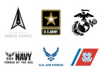 Logos der US-Streitkräfte