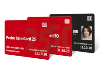 BahnCards im neuen Design (ab 2020), Quelle: Deutsche Bahn AG