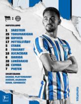 Hertha BSC Hausschrift – Aufstellung, Quelle: Hertha BSC