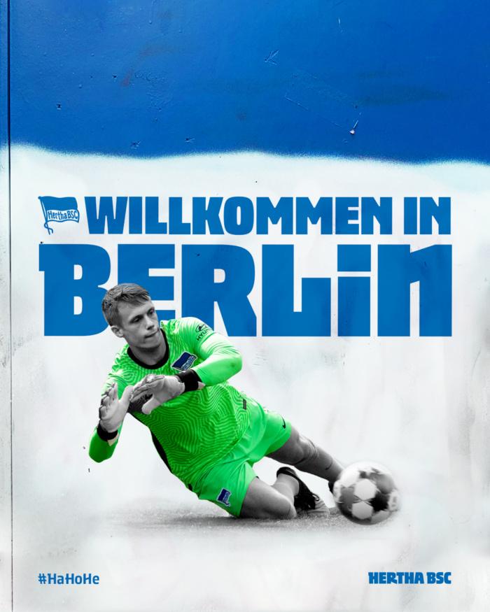 Hertha BSC Hausschrift Schwolow, Quelle: Hertha BSC
