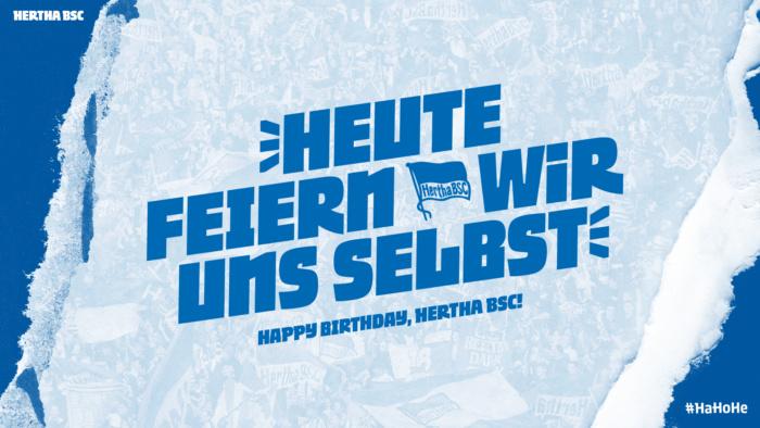 Hertha BSC Hausschrift Twitter, Quelle: Hertha BSC