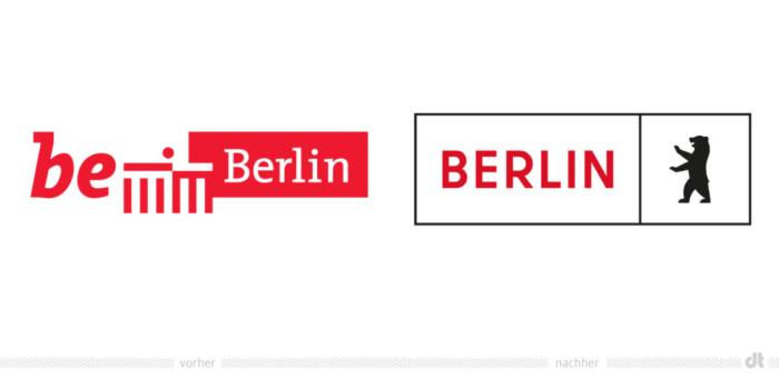 Land Berlin Logo – vorher und nachher, Bildquelle: Land Berlin, Bildmontage:dt