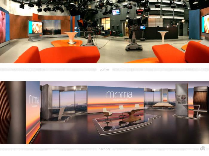 ZDF-Morgenmagazin Studio Redesign, Bildquelle: ZDF, Bildmontage: dt