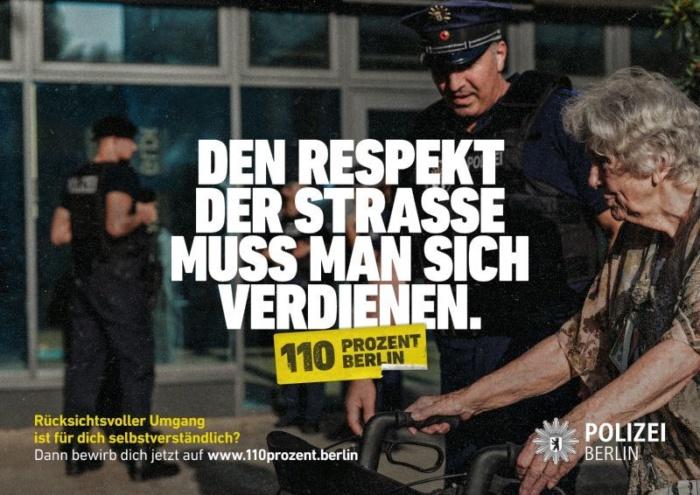 """""""110 Prozent Berlin"""" – Kampagne der Polizei Berlin, Quelle: Polizei Berlin"""