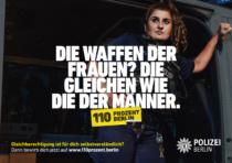 """""""110 Prozent Berlin"""" – Kampagne der Polizei Berlin – Die Waffen der Frauen, Quelle: Polizei Berlin"""