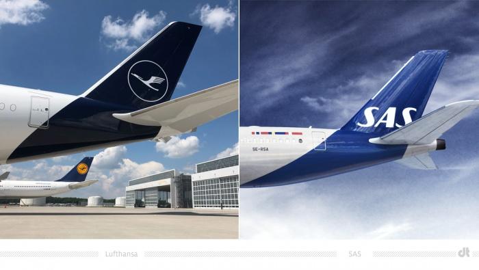 Heck Airbus Lufthansa und SAS