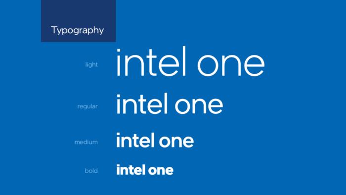 Intel Brand Typography, Quelle: Intel