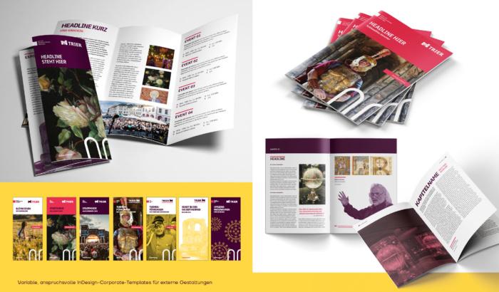 Trier Corporate Design – Broschüren, Quelle: Stadtverwaltung Trier