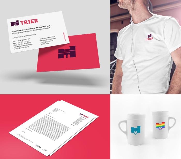 Trier Corporate Design – Anwendungsbeispiele, Quelle: Stadtverwaltung Trier