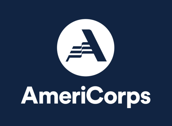 AmeriCorps Logo (invers), Quelle: AmeriCorps
