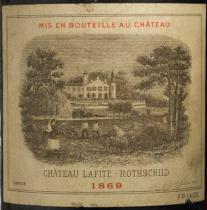 Château Lafite Rothschild 1869 Flaschenetikett