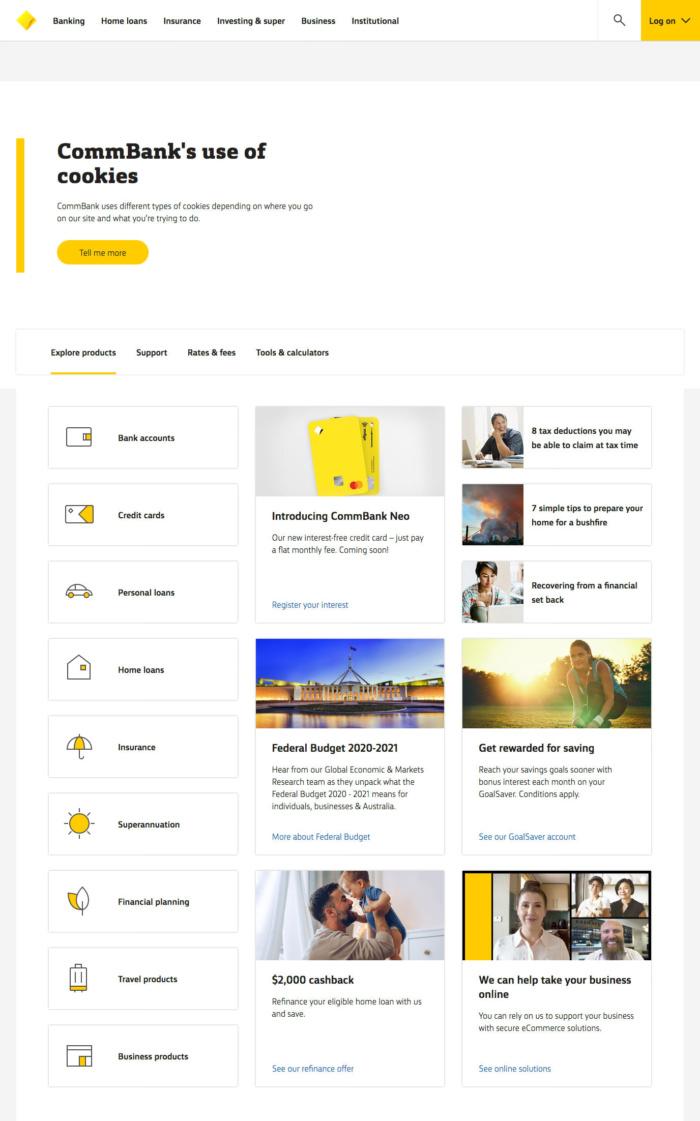 Commonwealth Bank Website