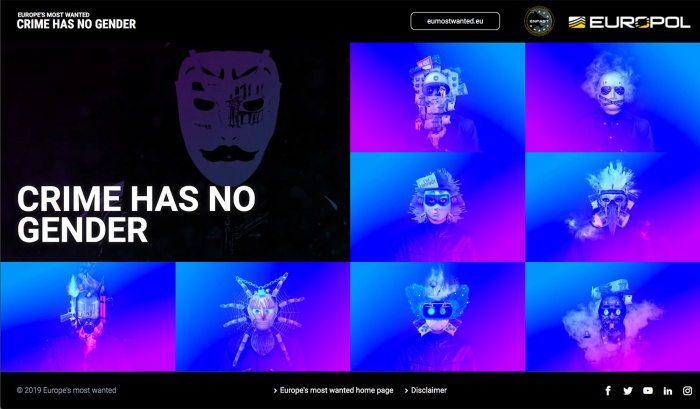 Europol – Crime has no gender Website