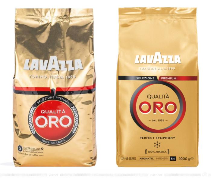 Lavazza Oro Kaffee Bohnen 1kg – vorher und nachher