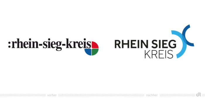 Rhein-Sieg-Kreis Logo – vorher und nachher, Quelle: Rhein-Sieg-Kreis