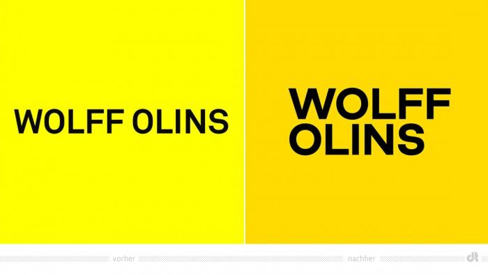 Wolff Olins Logo – vorher und nachher