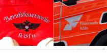 Feuerwehr Köln Logo am Fahrzeug – vorher und nachher, Bildquelle: Stadt Köln, Bildmontage: dt