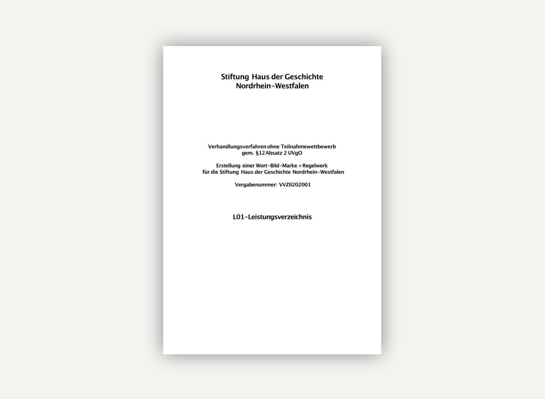 Stiftung Haus der Geschichte Nordrhein-Westfalen lässt Agenturen Logos entwerfen – zahlen will sie nur für das ausgewählte